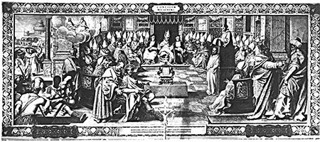The First Council of Nicaea, which condemned Arianism.
