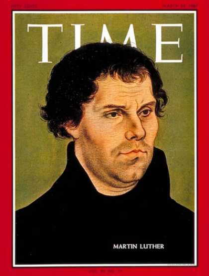 Luther on the Cover of Time Magazine